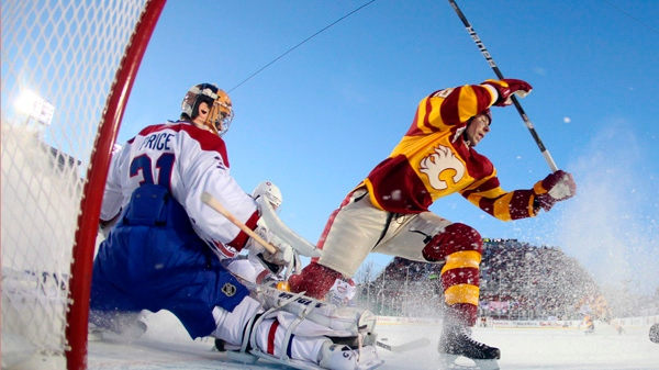 25a728492 Flames shut out Canadiens 4-0 in NHL s Heritage Classic outdoor game ...