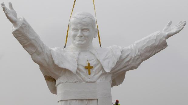 Massive statue of Pope John Paul II