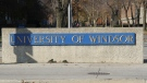 The University of Windsor sign is shown in this file photo in Windsor, Ont., on Nov.16. 2012. (Melanie Borrelli / CTV Windsor)