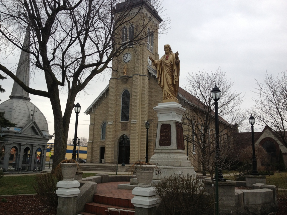 Ste. Anne church is shown in this file photo in Tecumseh, Ont., on Tuesday, April 9, 2013. (Rich Garton / CTV Windsor)