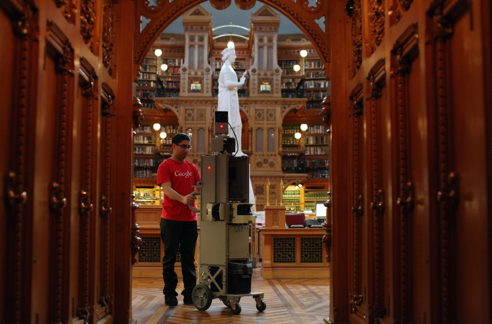 Google Street View cameras arrived on Parliament Hill Tuesday to document the historic buildings for what will become a virtual tour for millions of people who will never get to walk its hallowed halls. (Dave Chan)