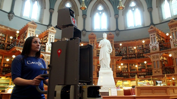 Google Canada said its cameras will spend a few days capturing everything from the House of Commons and the Senate Chamber to the Library of Parliament and even the Prime Minister's Office, 'mapping this iconic landmark of Canadian history and culture for all Canadians to enjoy and explore.' (Dave Chan)