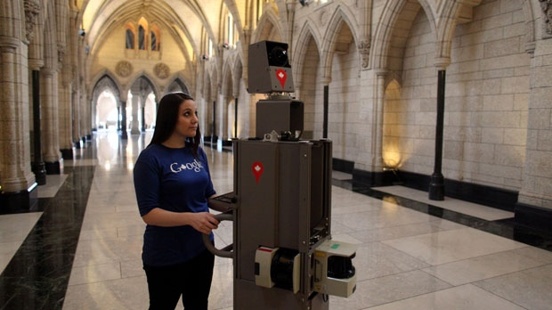 Google has adapted the Street View technology to fit a push-cart it calls Trolley, which has been used for similar projects at New York's Metropolitan Museum of Art and the White House. (Dave Chan)