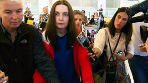 Allyson McConnell, a mother who killed her two young children in Alberta, has landed in her native Australia on Wednesday, April 10, 2013.
