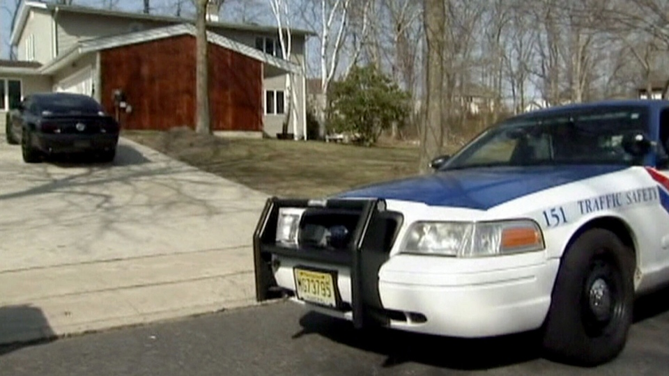 A six-year-old boy was shot by his four-year-old neighbour who lives in this house in Toms River, New Jersey, April 8, 2013.