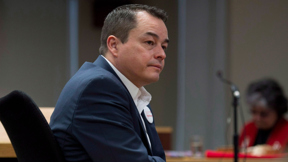 National Chief of the Assembly of First Nations Shaw Atleo waits to appear before the Canadian Human Rights Tribunal hearings in Ottawa, Monday, Feb. 25, 2013. (Adrian Wyld / THE CANADIAN PRESS)