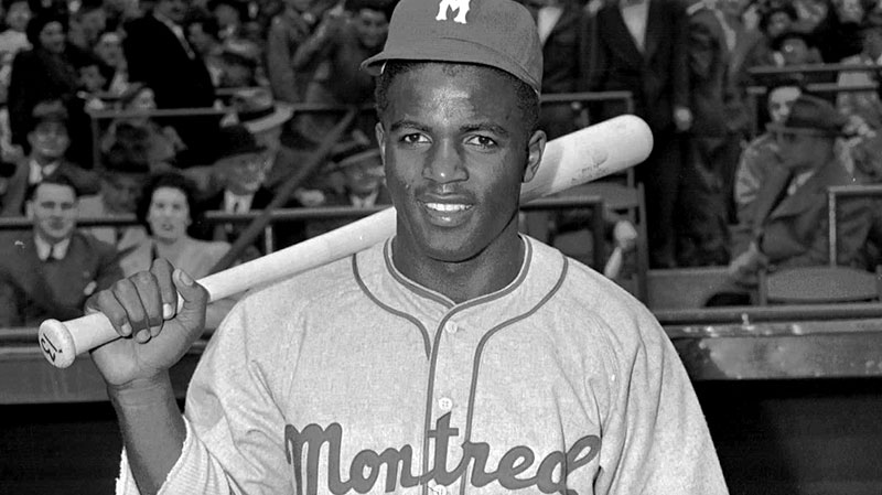 Montreal Royals Jackie Robinson poses in this April 18,1946 photo.  (AP / John J. Lent)