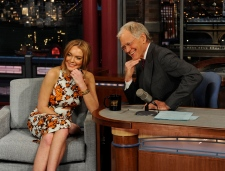 Lindsay Lohan grilled by Letterman