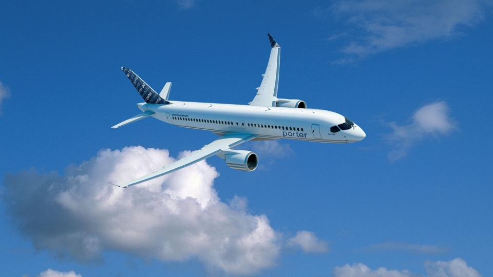 Porter Airlines announced a conditional order for up to 30 Bombardier CS100 aircraft on Wednesday, April 10, 2013.