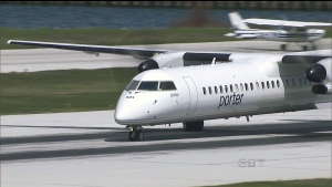 Porter Aviation Holdings Inc. says it's putting its passenger terminal at the Billy Bishop Toronto City Airport up for sale.