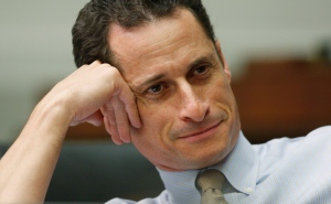Then-House Judiciary Committee member Rep. Anthony Weiner, D-N.Y., listens to testimony on Capitol Hill in Washington on Oct. 28, 2009. (AP / Charles Dharapak)