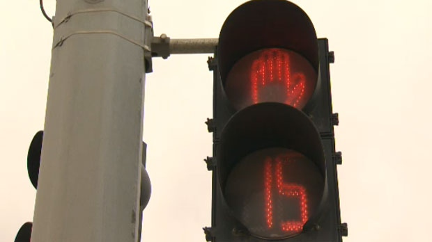 There are several intersections in Calgary that are outfitted with the timers.