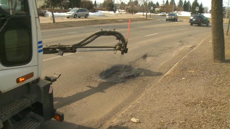 Edmonton potholes
