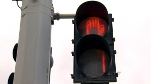 CTV file image of a pedestrian countdown signal.