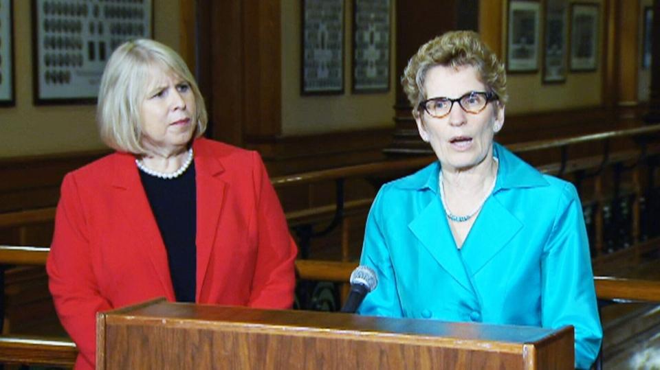 Ontario Premier Kathleen Wynne speaks at Queen's Park Thursday, April 11, 2013.