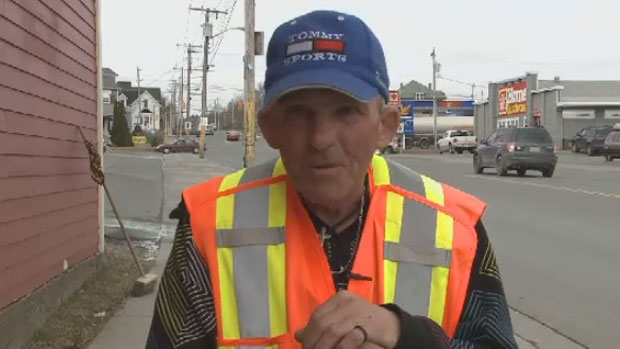 Richie Penny has been cleaning the streets of North Sydney, N.S. for about 30 years. (CTV Atlantic)