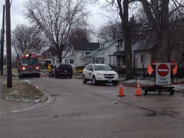An investigation is underway after a home was destroyed by fire in Listowel, Ont. on Thursday, April 11, 2013. (Scott Miller / CTV London)