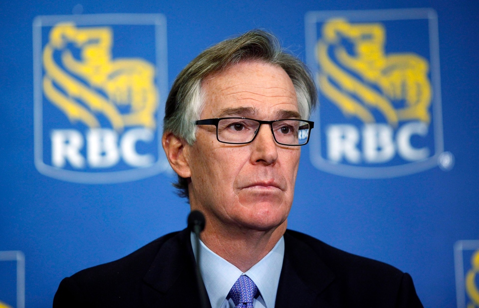 Gord Nixon, president and CEO of the Royal Bank of Canada, speaks to reporters in Calgary, in this Feb. 28, 2013 photo. (Jeff McIntosh / THE CANADIAN PRESS)