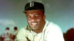 Brooklyn Dodgers baseball player Jackie Robinson poses in 1952. (AP / File)