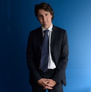 Liberal leadership candidate Justin Trudeau poses for a photo after speaking with The Canadian Press in Ottawa, Thursday April 11, 2013. (Adrian Wyld / THE CANADIAN PRESS)