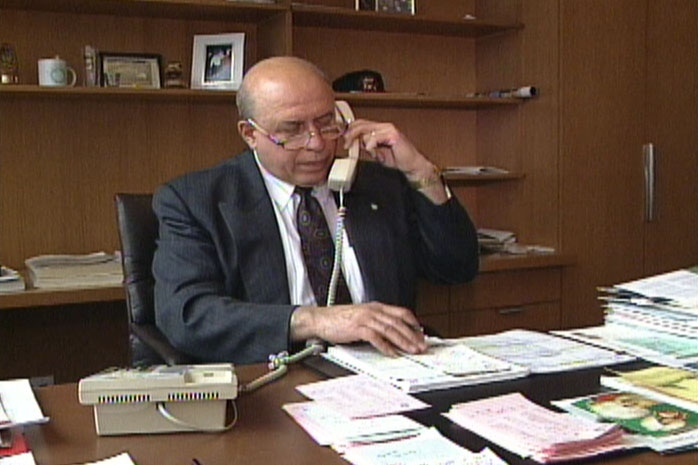 Former Kitchener Mayor Dom Cardillo.  He passed away April 14, 2013. Cardillo served as mayor from 1983-1994. Photo taken by CTV Kitchener.