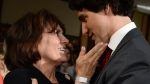Justin Trudeau and his mother Margaret celebrate after he won the Federal Liberal leadership in Ottawa, Sunday, April 14, 2013. (Sean Kilpatrick / THE CANADIAN PRESS)