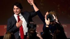 Justin Trudeau begins first day as Liberal leader