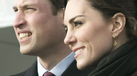 Prince William and fiancee Kate Middleton make a rare public appearance to dedicate a new lifeboat in Trearddur Bay, Wales, on Thursday, Feb. 24, 2011.