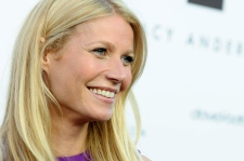 Gwyneth Paltrow arrives at the opening of the Tracy Anderson flagship studio, in Los Angeles, on April 4, 2013. (Invision / Jordan Strauss)