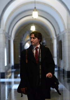 Trudeau first question period Liberal leader House