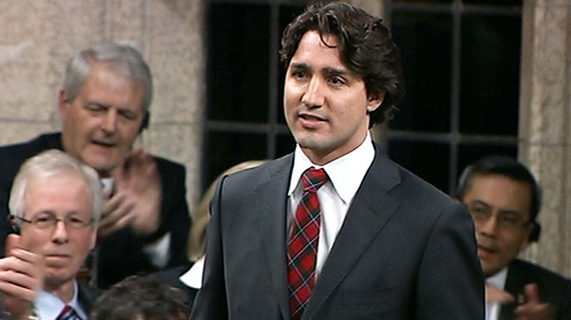 Liberal Leader Justin Trudeau speaks in the House of Commons in Ottawa on Monday, April 15, 2013.
