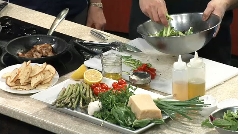 Nate Box from The Birch Patio whips up a Panzanella Salad with Herb Chicken in the CTV Morning Live Kitchen.