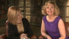 Sandie Rinaldo sits down with Kim Cattrall for an interview at the Four Seasons Hotel in downtown Toronto.
