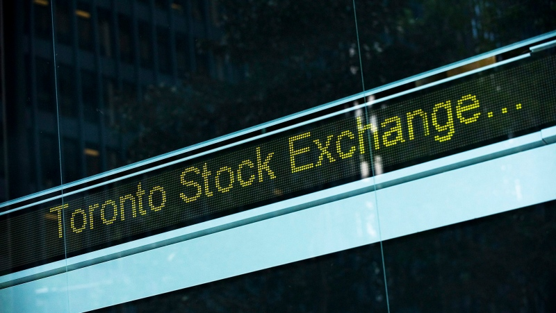 A Toronto Stock Exchange ticker is seen at The Exchange Tower. (The Canadian Press/Aaron Vincent Elkaim)