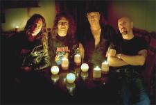 The members of Anvil, from left to right: Ivan Hurd, Steve 'Lips' Ludlow, Robb Reiner and Glenn 'G5' Gyorffy.