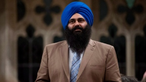 Tim Uppal responds to a question during question period in the House of Commons  in Ottawa on Tuesday April 16, 2013. (Adrian Wyld / THE CANADIAN PRESS)