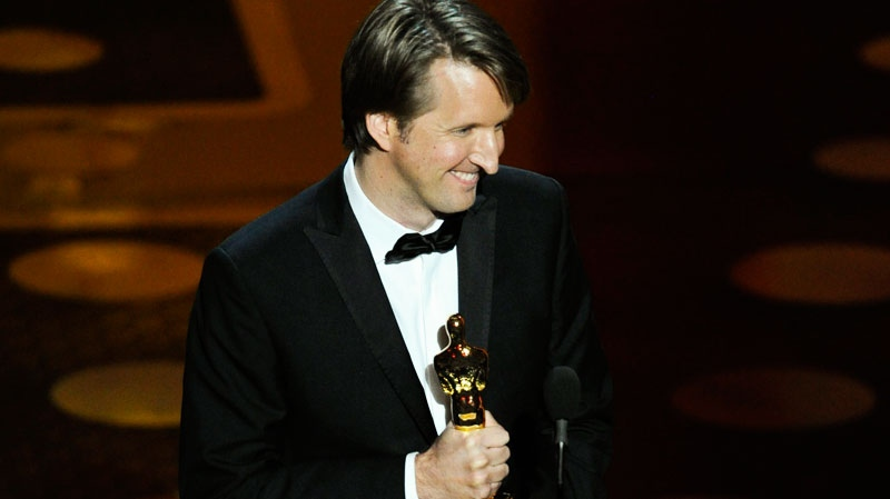 Tom Hooper accepts the Oscar for best achievement in directing for 'The King's Speech' at the 83rd Academy Awards on Sunday, Feb. 27, 2011, in the Hollywood section of Los Angeles. (AP / Mark J. Terrill)