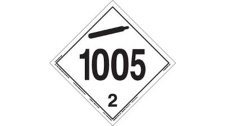 Anhydrous Ammonia UN1005 product ID placard