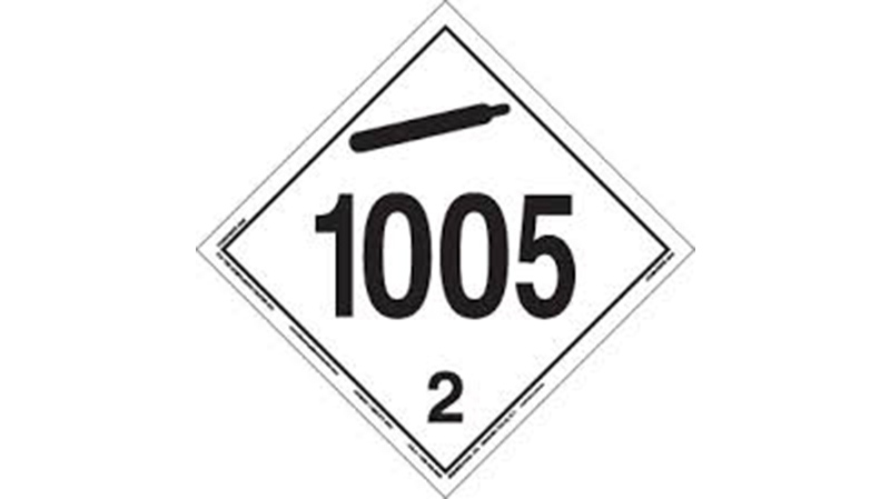 Anhydrous Ammonia UN1005 product identification placard
