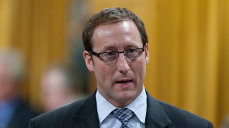 Minister of National Defence Peter MacKay rises during Question Period in the House of Commons on Parliament Hill in Ottawa, Monday February 28, 2011. (Adrian Wyld / THE CANADIAN PRESS)