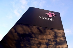 The sign outside the Statoil oil company headquarters in Stavanger, Norway on Thursday, Jan. 17, 2013. (Kent Skibstad / NTB scanpix)