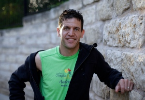 Marathon runner Joe Berti poses for a photo in Austin, Texas, Thursday, April 18, 2013. (AP / Eric Gay)