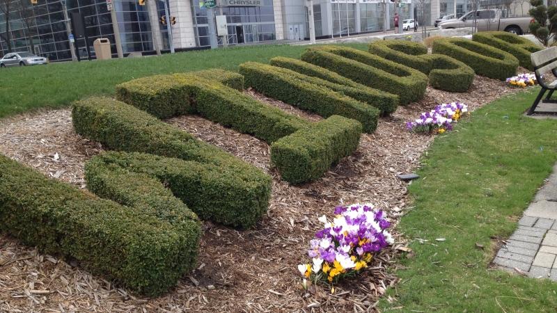 Riverfront gardens just off Riverside Drive in Windsor, Ont., on Thursday, April 18, 2013. (Melanie Borrelli / CTV Windsor)