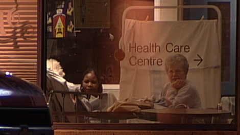 The emergency department at Royal Columbian Hospital in New Westminster temporarily expanded into a Tim Hortons coffee shop. Feb. 28, 2011. (CTV)