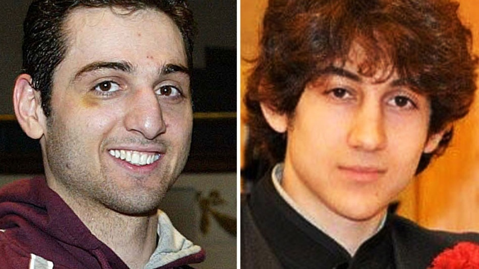 This combination of undated photos shows Tamerlan Tsarnaev, 26, left, and Dzhokhar Tsarnaev, 19. (The Lowell Sun and Robin Young)