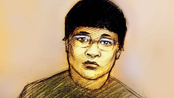 This sketch shows Qi Tan, 28, as she appeared in a Scarborough court on Tuesday, March 1, 2011.