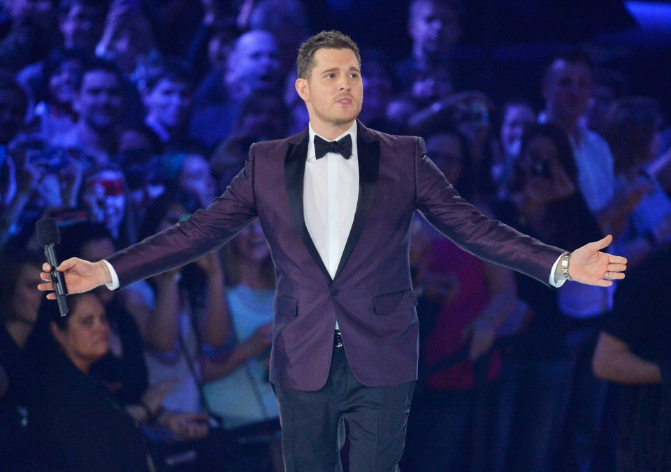Host Michael Buble opens the 2013 Juno Awards in Regina on Sunday, April 21, 2013. (Liam Richards / THE CANADIAN PRESS)
