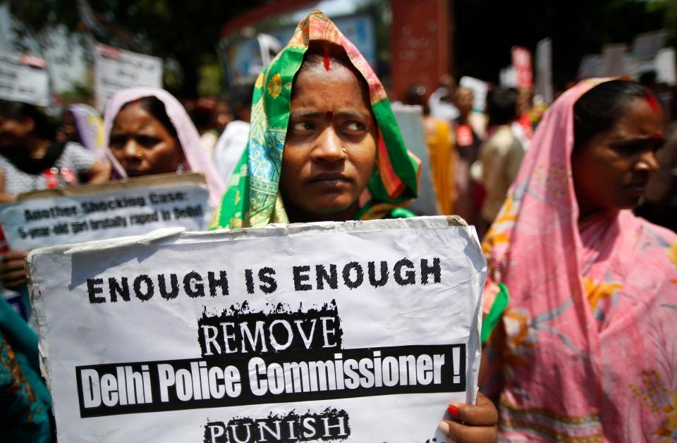 India protests over child rape