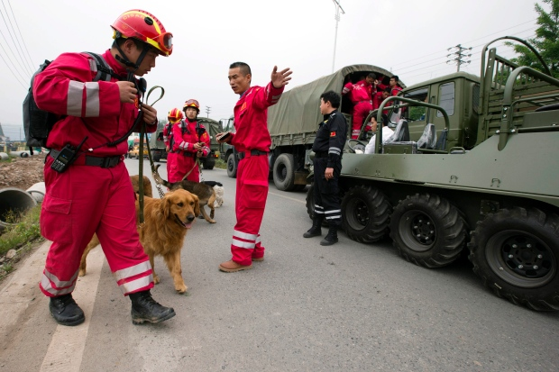 Disaster relief in China after earthquake