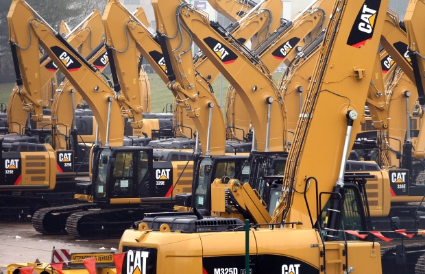 Caterpillar profits shrink